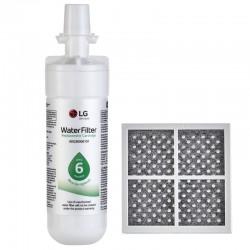 LG LT700P / LT700PC(Part ADQ36006101) Refrigerator Water Filter with LG LT120F(Part  ADQ73214404) Refrigerator Air Filter