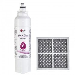 LG LT800P / LT800PC(Part ADQ73613401) Refrigerator Water Filter with LG LT120F(Part  ADQ73214404) Refrigerator Air Filter