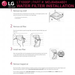 LG LT1000P / LT1000PC Replacement Refrigerator Water Filter (Part Number MDJ64844601)