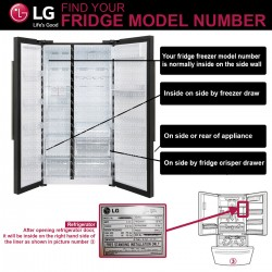 LG M7 Ultimate M7251253FR-06 Fridge Water Filter ADQ32617703 with LG LT120F(Part ADQ73214404) Refrigerator Air Filter