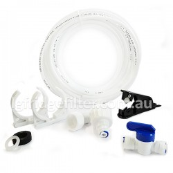 "Fridge Freezer Water Filter Hose 1/4"" Connection Kit + Hose Cutter"