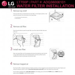 LG LT700P / LT700PC Replacement Refrigerator Water Filter (Part Number ADQ36006101)