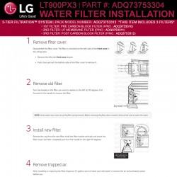 LG LT900X3 3-Tier Filtration Filtration System (Part Number ADQ73753304)